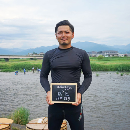 Kachiu (walking cormorant fishing), a unique method of cormorant fishing only found in Fuefuki City.