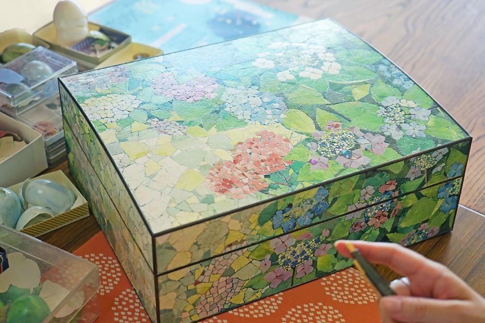 eggshell,rankaku,mosaic,handcraft,delicate,activity,fuefuki, yamanashi, mt.fuji, event, peach, grapes, fruits, farmer, japan, onsen,agriculture,inbound,travel,tourism,nature,experience,skills