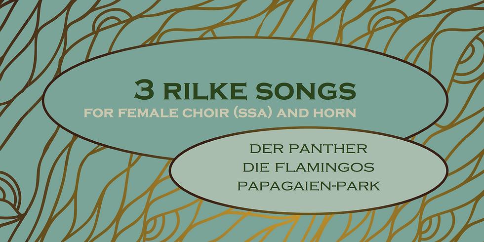 Cd-opname 3 Rilke songs
