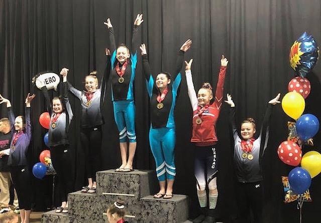 Our Level 7 Gymnastiks Unlimited Team ac