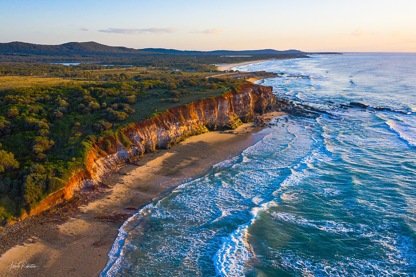 """MORNING GLORY"" RED CLIFF, YURAYGIR NATIONAL PARK, NSW"