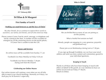 Newsletter, 21st February '21