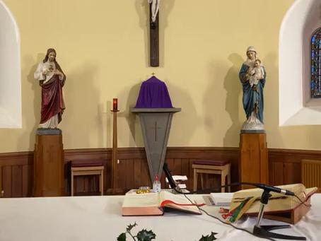 Daily mass 9.30 am, Friday 11th December