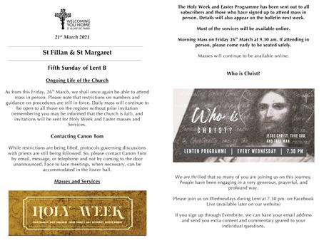 Newsletter, 21st March '21