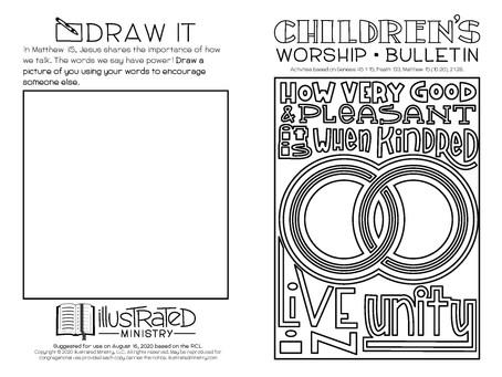 Kids' Bulletin, 16th August '20