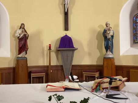 Daily mass 9.30 am, Monday 21st December