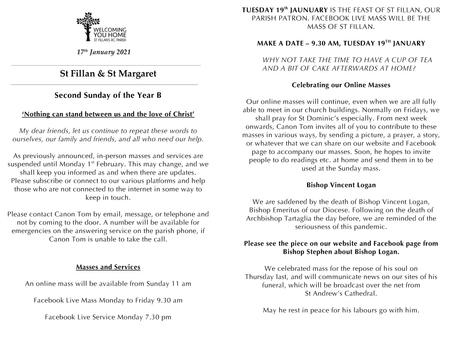 Newsletter, 17th January '21