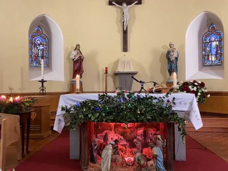 Daily mass 9.30 am, Monday 4th January