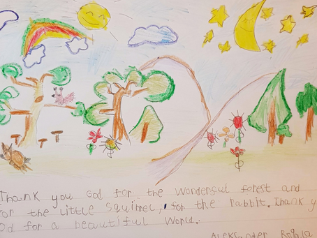 Children's Prayers and Artworks - P1/2