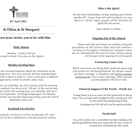 Newsletter, 18th April '21