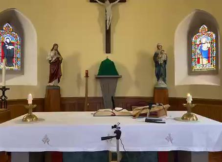Daily mass 9.30 am, Friday 25th September