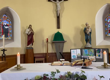 Daily mass 9.30 am, Thursday 29th October