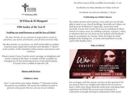Newsletter, 7th February '21