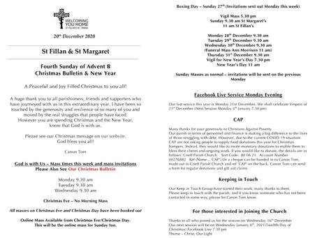 Newsletter, 20th December '20