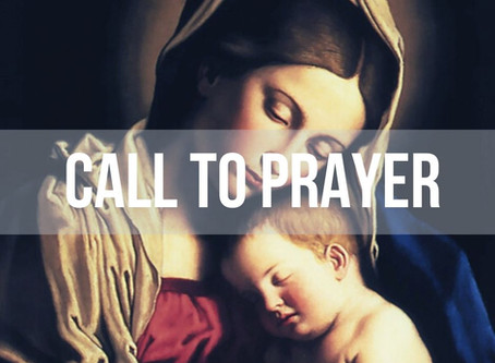 Call to Prayer, Wednesday 13th May