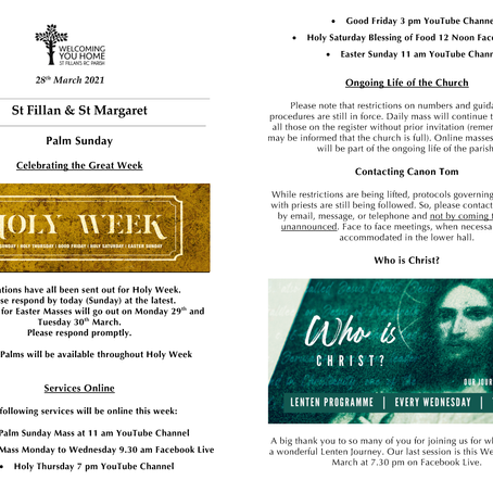 Newsletter, 28th March '21