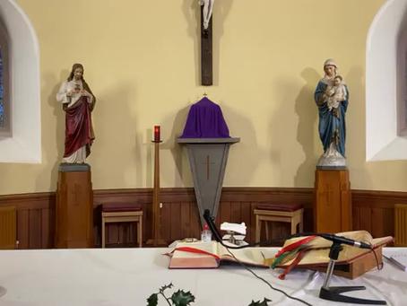 Daily mass 9.30 am, Tuesday 15th December