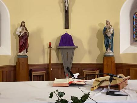 Daily mass 9.30 am, Friday 18th December