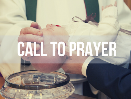 Call to Prayer, Wednesday 20th May