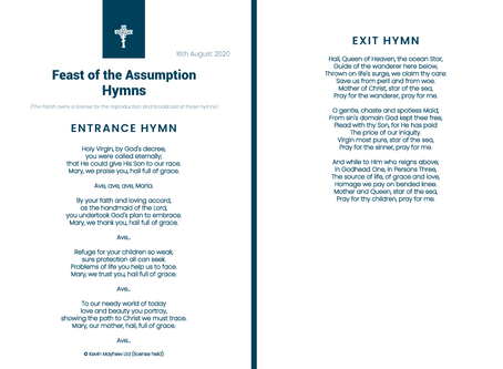 Feast of the Assumption - Hymns