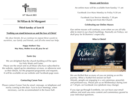 Newsletter, 14th March '21
