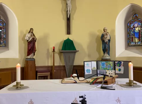 Daily mass 9.30 am, Monday 19th October
