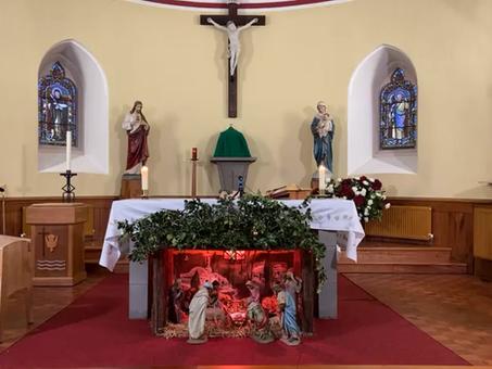 Daily mass 9.30 am, Monday 11th January