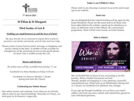 Newsletter, 7th March '21