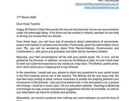 Letter to head teachers