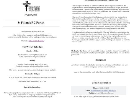 Newsletter, 7th June '20