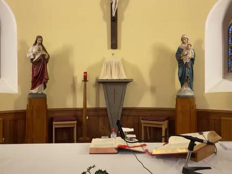 Daily mass 9.30 am, Monday 14th December