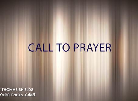 Call to Prayer, Wednesday 22nd April