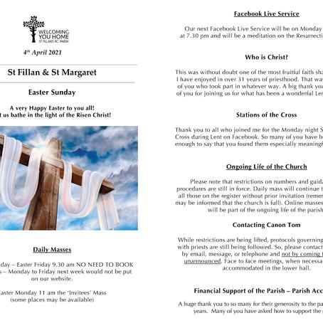 Newsletter, 4th April '21