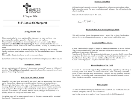 Newsletter, 2nd August '20