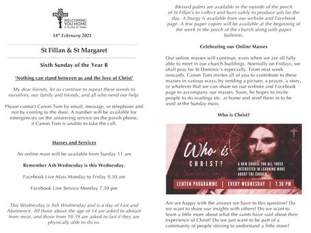 Newsletter, 14th February '21