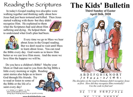 Kids' Bulletin, 26th April '20