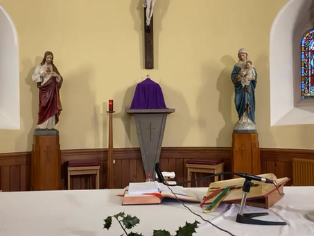 Daily mass 9.30 am, Tuesday 22nd December