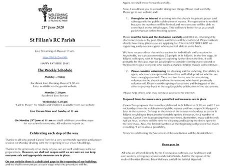 Newsletter, 21st June '20
