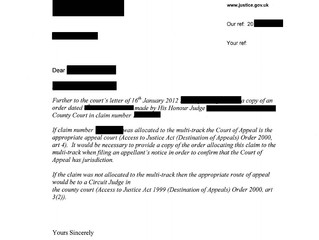 Deputy Master at the Court of Appeal decided that the Route of Appeal from Circuit Judge in a County