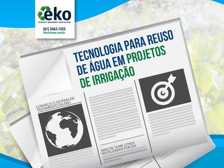 Ministério estuda implantar tecnologia para reuso de água em projetos de irrigação