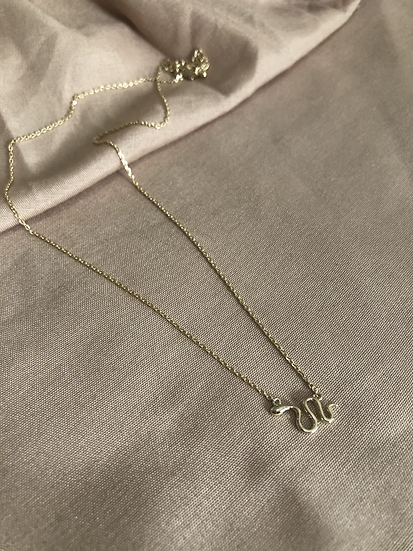Dainty snake necklace