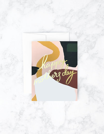 Colorblock Mother's Day Card