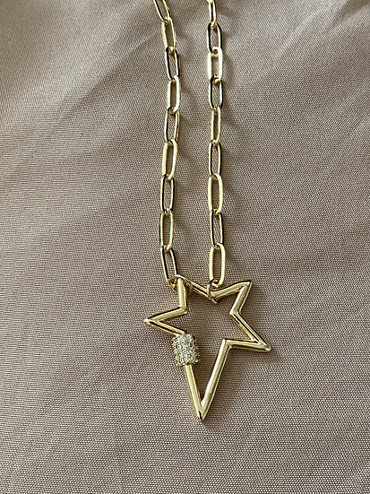 Star link chain necklace