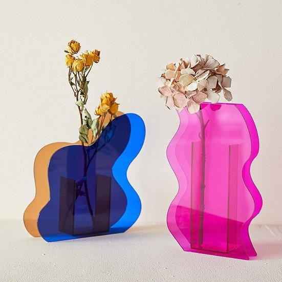 Acrylic Abstract Vase