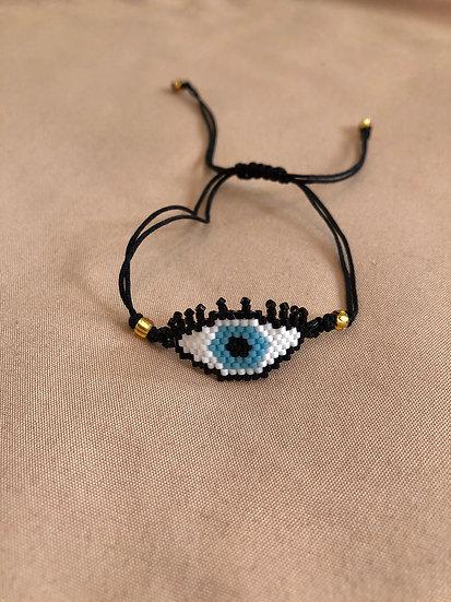 Evil eye miyuki bracelet