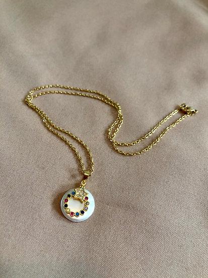 Rainbow star necklace