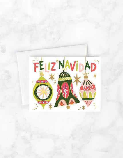 Feliz Ornaments Christmas Card