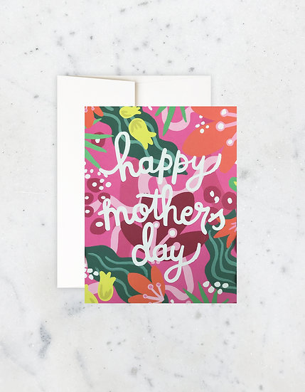 Fuschia Flora Mother's Day Card
