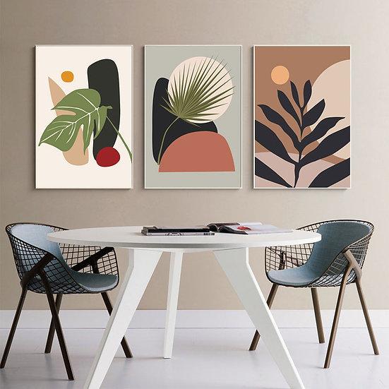 Leafy Print Poster