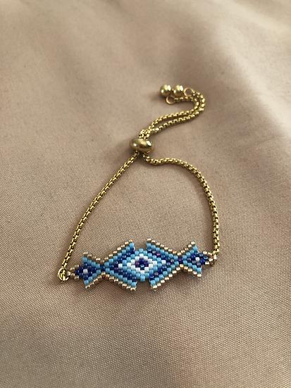 Aqua miyuki bracelet